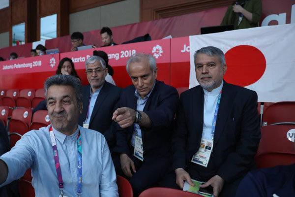 حضور رئیس کمیته ملی المپیک در سالن مسابقات شمشیربازی