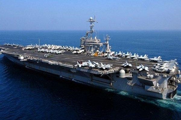 ناو هواپیمابر آمریکا بار دیگر وارد خلیج فارس شد