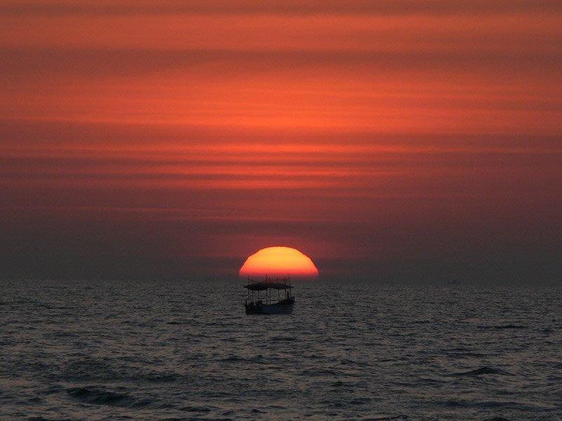 دیدنی ترین مناظر غروب خورشید در گوا