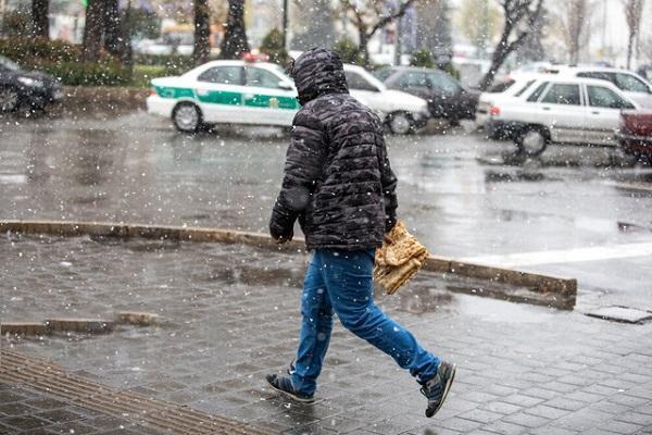 بارش برف و باران و وزش باد شدید در بیشتر مناطق کشور، تهران برفی می گردد